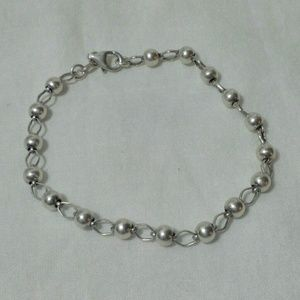 925 ball and loop silver bracelet